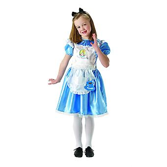 Alice In Wonderland Childrens/Kids Deluxe Alice Costume