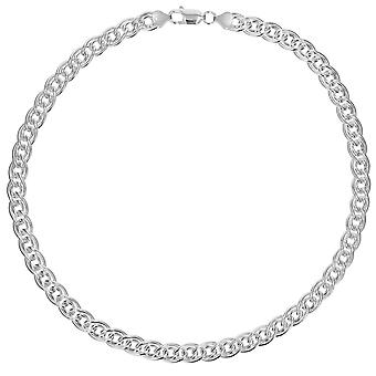 TOC sterling zilver Gents 50 gram dubbele Curb 18 inch ketting
