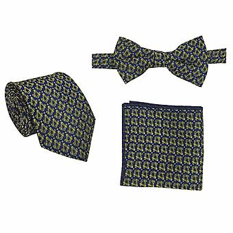 Frimurer regalia slips, tversoversløyfe og lommetørkle sett