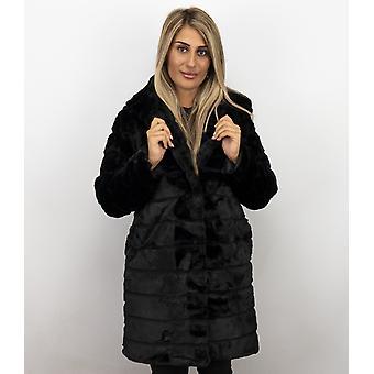 Fur coat Lang - Parka - Black