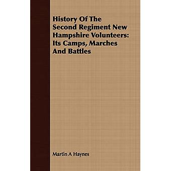History Of The Second Regiment New Hampshire Volunteers Its Camps Marches And Battles by Haynes & Martin A