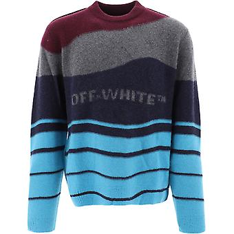 Off-white Omhe034r20e370252408 Men's Multicolor Wool Sweater