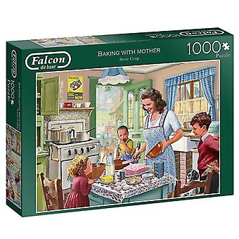 Falcon De Luxe Jigsaw Puzzle - Baking With Mother, 1000 Piece