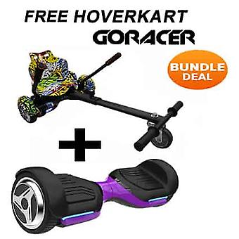 G PRO Purple Segway with a Racer Hip Hop Hovercart