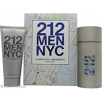 Carolina herrera 212 homens edt-s 100ml + gel de chuveiro 100ml