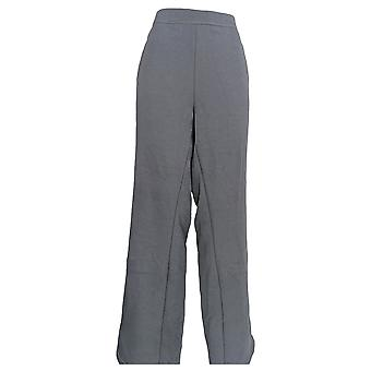 Denim & Co. Women's Plus Pants Active Lush Lined Pull On Gray A299218