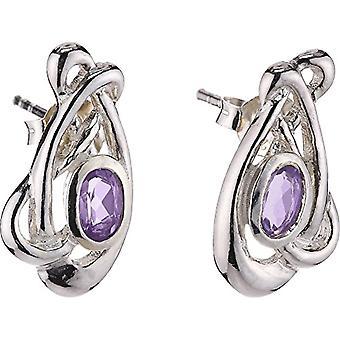 Heritage 3239AM - Women's lobe earrings with amethyst - sterling silver 925
