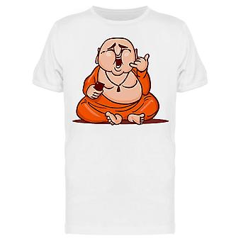 Funny Cartoon Buddha Tee Men's -Image by Shutterstock