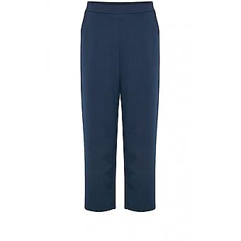 b.young Navy Wide Leg Jersey Culottes