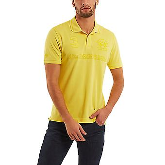 La Martina Men's Patric Print Polo T-Shirt