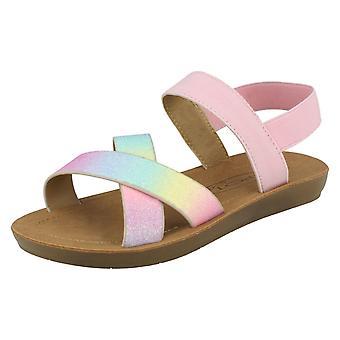 Manchas de meninas em sandálias slingback H0351
