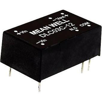 Mean Well DLC03B-12 DC/DC converter (module) 125 mA 3 W No. of outputs: 2 x