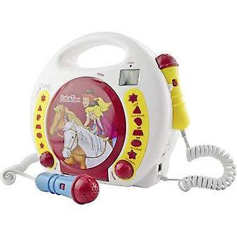 X4 Tech Kids CD player CD, SD, USB Incl. microphone, Incl. karaoke function