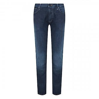 Emporio Armani J06 Slim Fit Mid Blue Washed Denim Jeans 3H1J06 1DA8Z