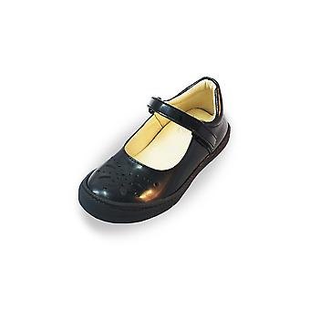 Primigi cleme preto patente mary-jane sapatos escolares