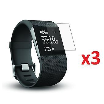Capa de filme do protetor de tela 3x para fitbit surge smart watch