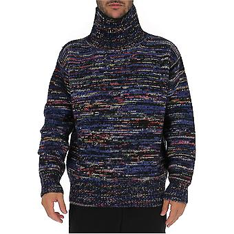 Dries Van Noten 212228712900 Men's Multicolor Wool Sweater