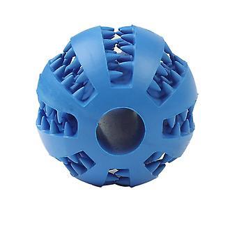 7cm Dark Blue Dog Pet Toy Chew Clean Rubber Ball