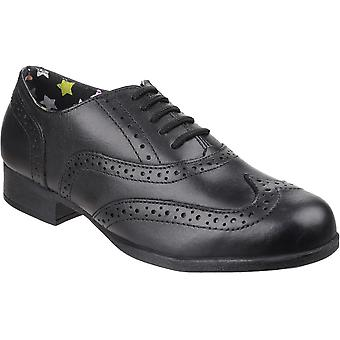 Hush pennut Girls Kada Smart kiillotettu nahka Brogue koulu kengät