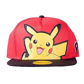 Pokemon Baseball Cap Pikachu Popart logo new Official Red Snapback