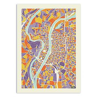 Art-Poster - Lyon Rainbow karta - Muzungu