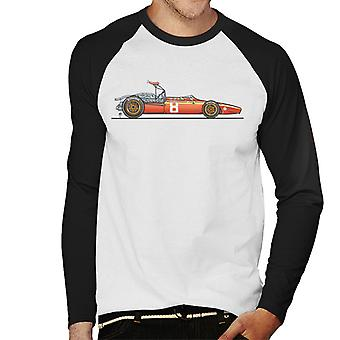 Motorsport Images Ferrari 312 1968 Sketch Men's Baseball Long Sleeved T-Shirt