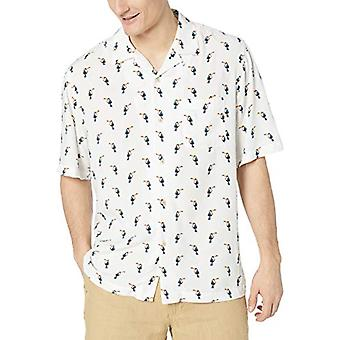 28 Palms Men's Relaxed-Fit Vintage Lavado 100% Rayon Tropical Hawaiian Camisa,...