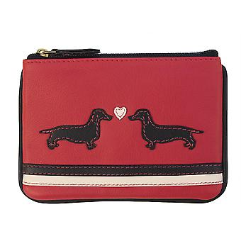 Primehide Small Womens Coin Purse - Dogs and Bee Design Change Wallet - 726
