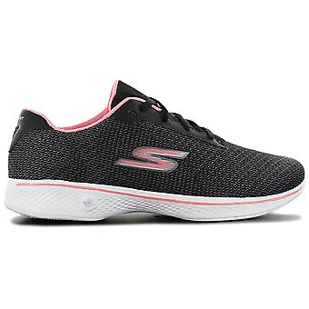 Skechers GOwalk 4 تمجيد - أحذية نسائية سوداء 14175-BKPK أحذية رياضية