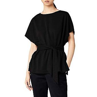 MERAKI Women's Relaxed Fit Alivia Tie Top, Black, EU S (EUA 4-6)