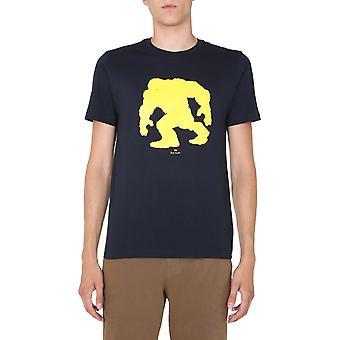 Ps Door Paul Smith M2r011rep214749 Men's Blue Cotton T-shirt
