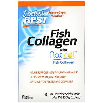 Doctor's Best, Fish Collagen with Naticol, 30 Powder Stick Packs