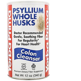 Yerba Prima, Psyllium Whole Husks, Colon Cleanser, 12 oz (340 g)