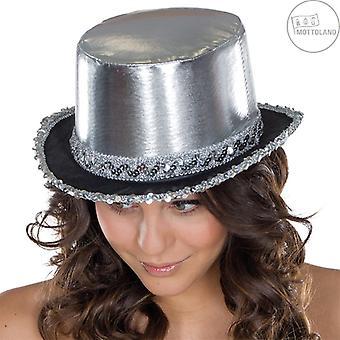 Cylinder paljett band glänsande hatt