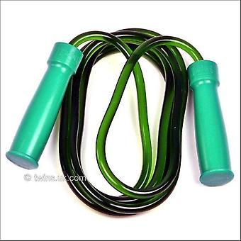 双胞胎特殊绿色重型橡胶轴承跳绳