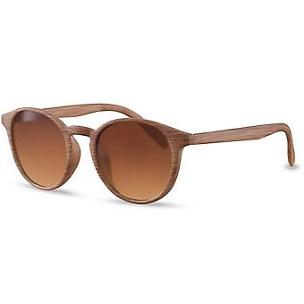 Sunglasses Unisex Panto brown(wood)/brown (CWI419)