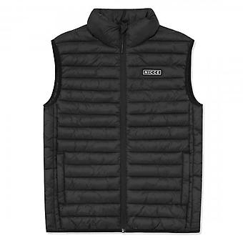 NICCE Nicce Maidan Black Quilted Puffer Gilet