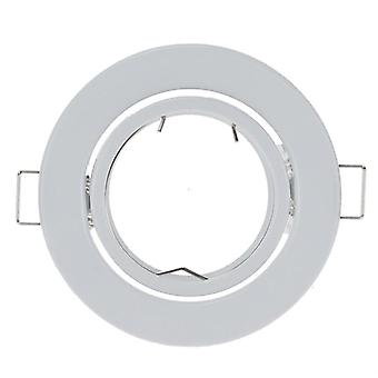 White Round Surface Mounting Aluminum Frame For Led Fixture Downlight
