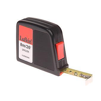 Crescent Lufkin YU838CME Unilok Pocket Tape 8m/26ft (Width 19mm) LUFYU838
