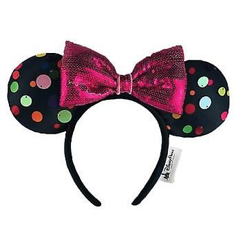 Mickey Mouse Design, Sequin, Plush And Soft Headband