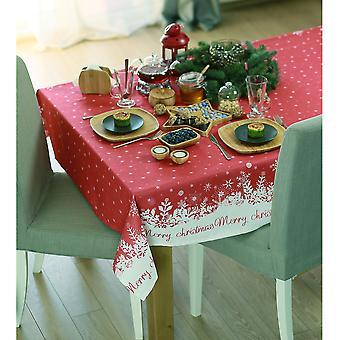 """55"""" Frohe Weihnachten gedruckt Quadratische Tischdecke in rot"""