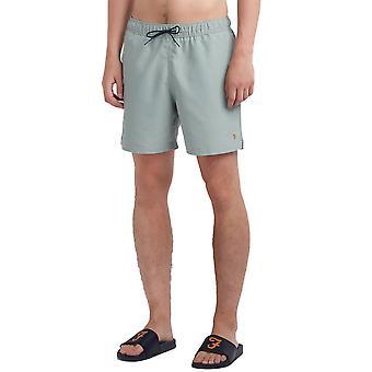 Farah Colbert Plain Swim Shorts - Green Mist