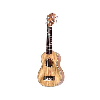 21 zoll Zebrawood Ukulele Kit Gitarre 4 Saitengitarre für Anfänger
