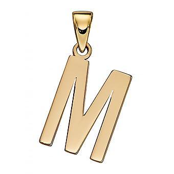 Elements Gold 9ct Yellow Gold M Pendant GP2212
