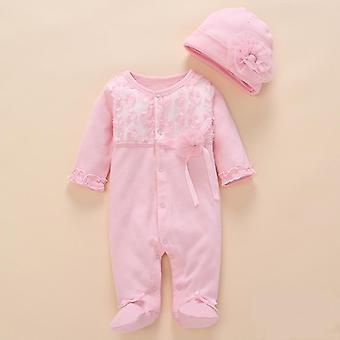 Newborn Baby Girl Ubrania Romper Summer Cotton Kombinezon Obuwie