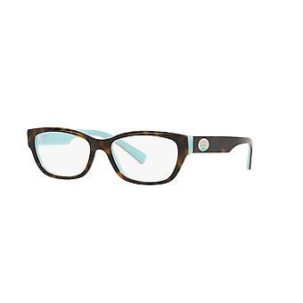 Tiffany TF2172 8134 Havana on Tiffany Blue Glasses