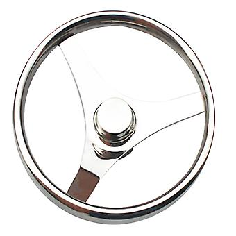 Stainless Steel Marine Steering Wheel Yacht 15.5""