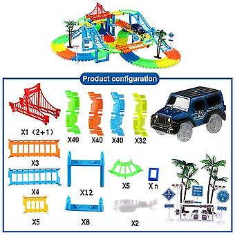 Railway Racing Track Play Set, Educational Bend Flexibil Race Track Electronic