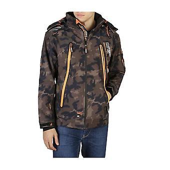 Geographical Norway - Clothing - Jackets - Torry_man_camo_kaki-orange - Men - darkolivegreen,orange - XL