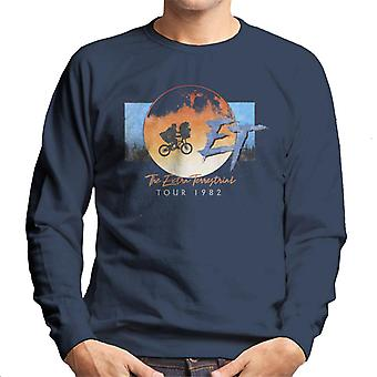 E.t. The Extra Terrestrial Tour 1982 Classic Shot Men's Sweatshirt